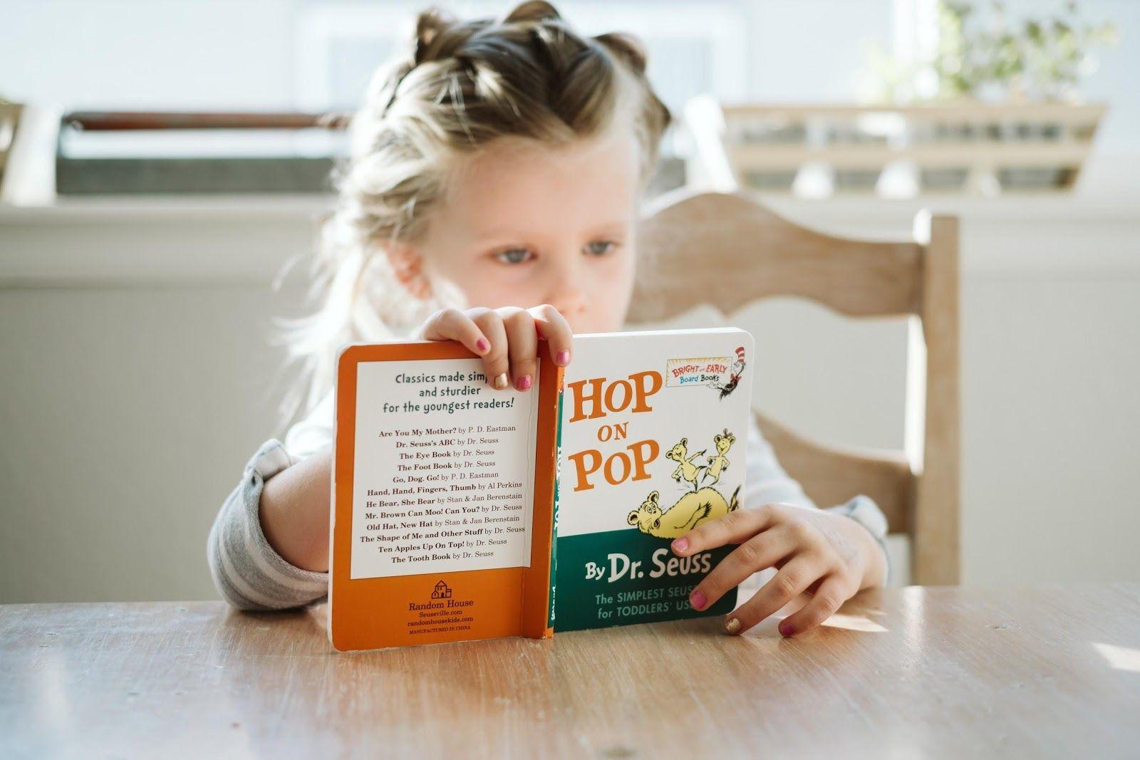 Writing development - Girl reading favorite journal